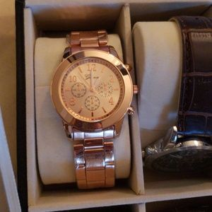 Gorgeous Rose gold Geneva watch.